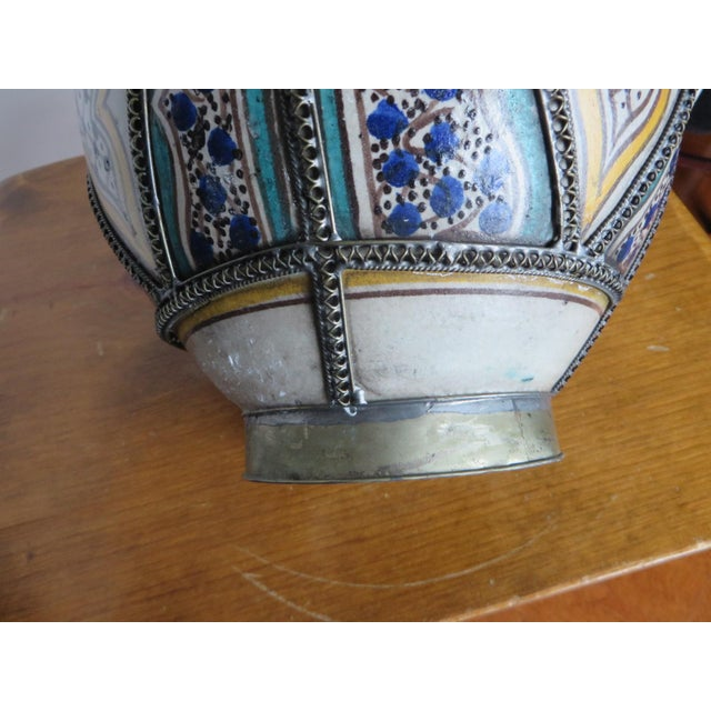 Antique Moroccan Jar with Filigree For Sale In Philadelphia - Image 6 of 11
