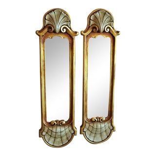 Early 20c Pair of Pier Mirrors by Thorvald Strom For Sale