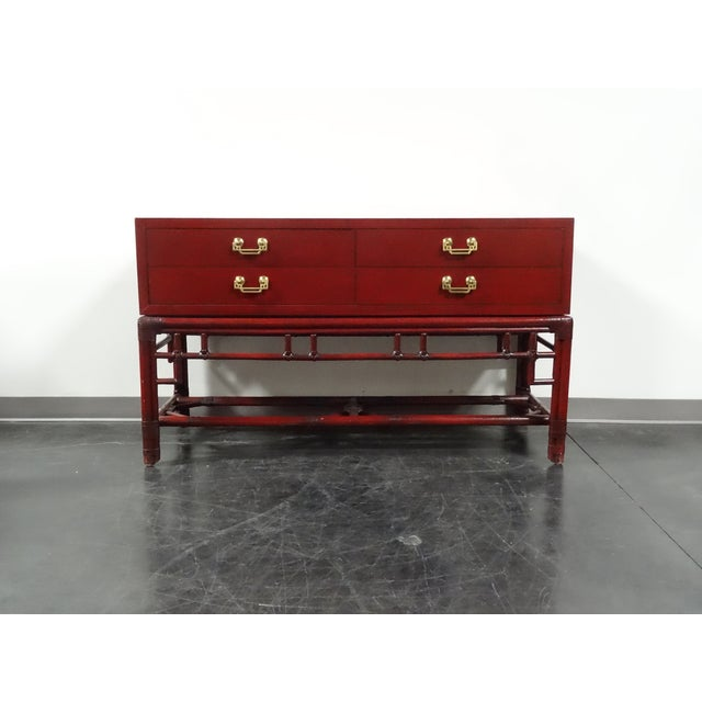 Ficks Reed Red Asian Sideboard Console - Image 2 of 11