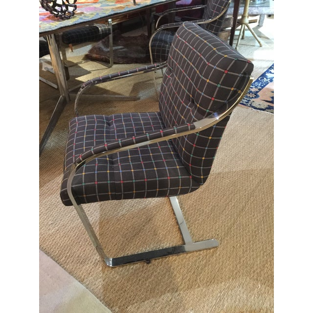 Brueton Mid Century Modern Chrome Over Steel Brueton Chairs - Set of 6 For Sale - Image 4 of 9