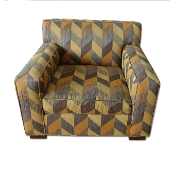 2010s Mitchell Gold + Bob Williams Custom Arm Chair For Sale - Image 5 of 5