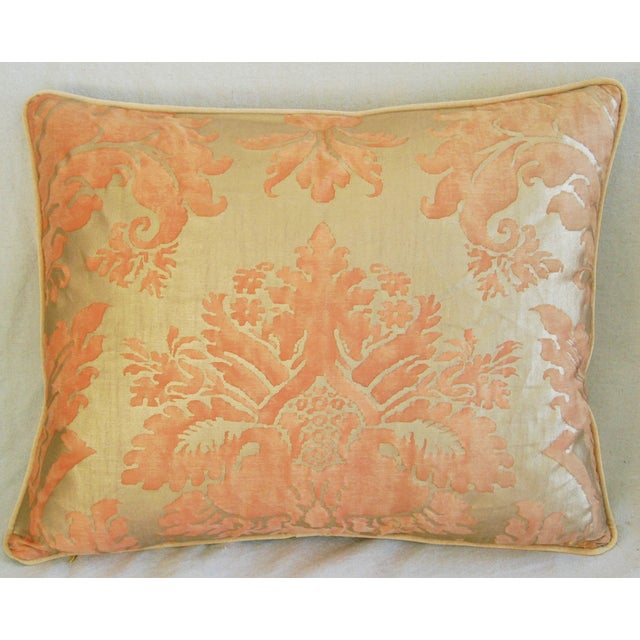 Italian Fortuny Glicine Gold Pillows - A Pair - Image 4 of 11