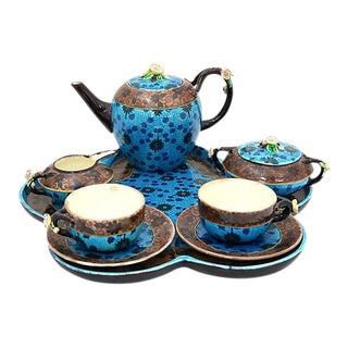 French Jules Viellard Bordeaux Tea Set