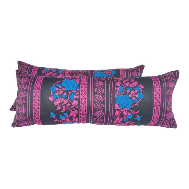 Japanese Obi Lumbar Pillows- A Pair - Image 1 of 4