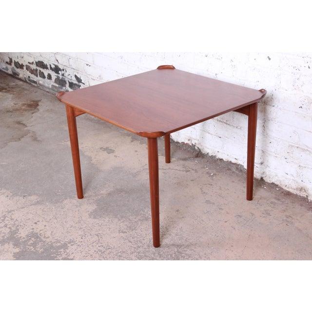 Baker Furniture Company Finn Juhl for Baker Furniture Teak Game Table For Sale - Image 4 of 9