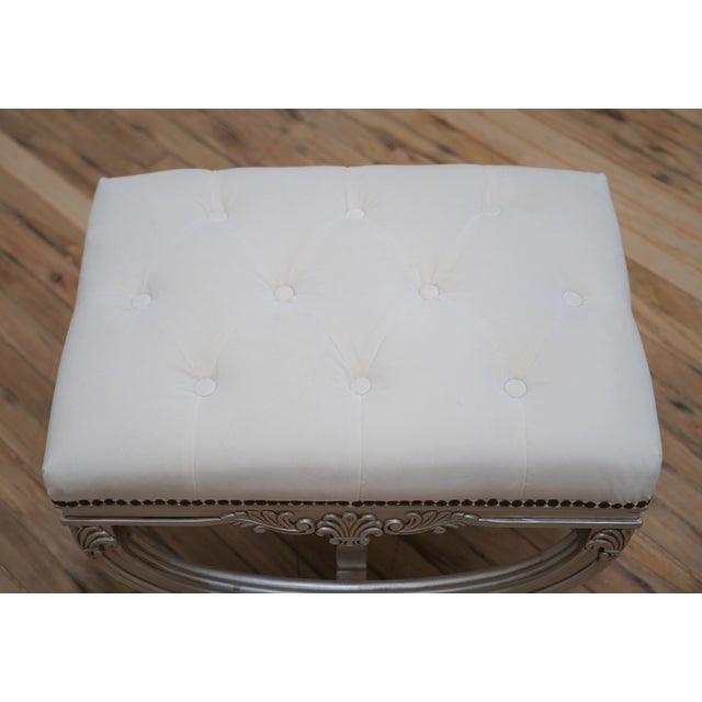 Eliza Tufted Stool by Frontgate For Sale - Image 4 of 7