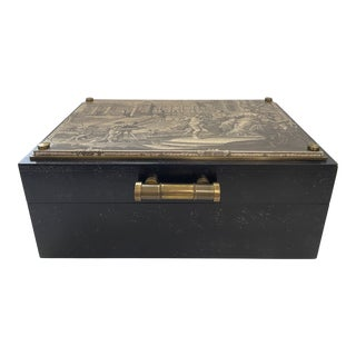 Bronze Studded Roman Chest Box For Sale