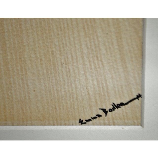 Black Vintage Framed Ink & Watercolor Japanese Geisha Painting - Artist Signed For Sale - Image 8 of 13