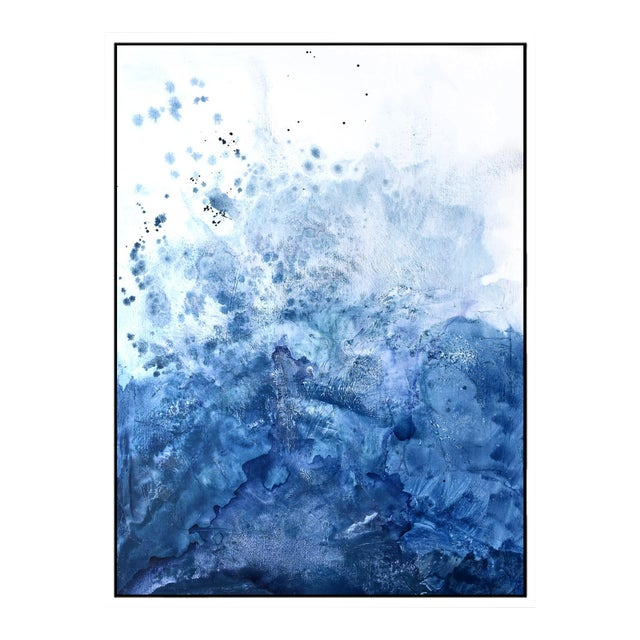 Blue Salt Watercolor Framed Giclée Print 30 x 40 - Image 1 of 5