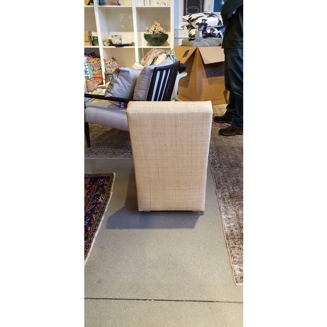 Billy Baldwin Slipper Chair in Madagascar Cloth For Sale - Image 4 of 5