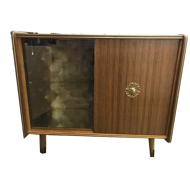 Metal Vintage Mid-Century Modern Dry Bar For Sale - Image 7 of 7