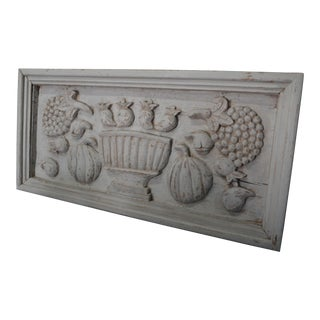 Italian Rustic Decorative Kitchen Plaque For Sale