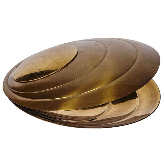 Gold Lamp Shell by Angelo Brotto For Sale - Image 8 of 8