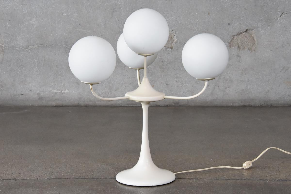 Tulip Table Lamp With Frosted Globes By Temde Leuchten   Image 5 Of 5