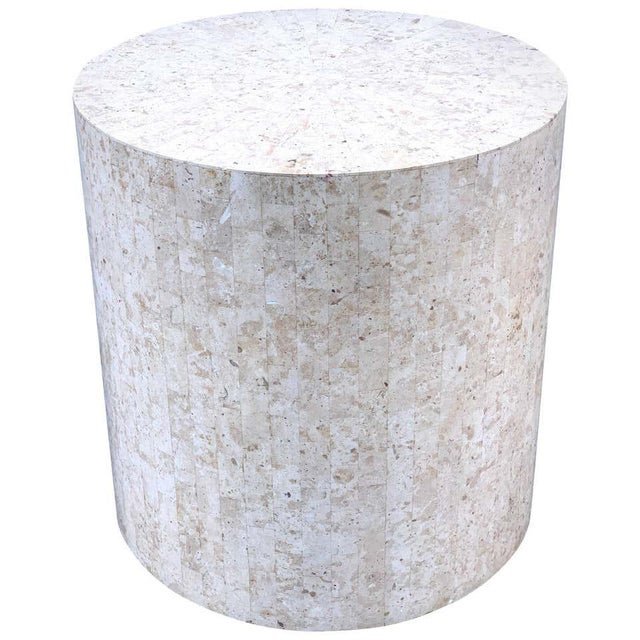 Gray Late 20th Century Modern Tessellated Stone Pedestal by Maitland-Smith For Sale - Image 8 of 8