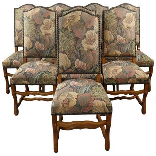 Dining Chairs Sheepbone French Set 8 Light Oak For Sale