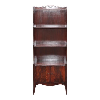 1960s Mid Century Modern Exotic Wood Bookcase For Sale