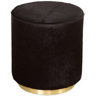 Chubby Ottoman in Black Cowhide Preview
