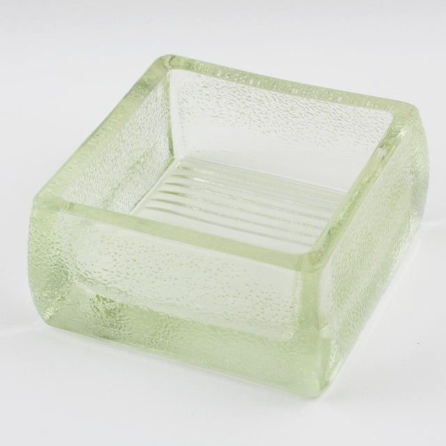 1950s Le Corbusier for Lumax Molded Glass Catchall Ashtray For Sale - Image 5 of 13