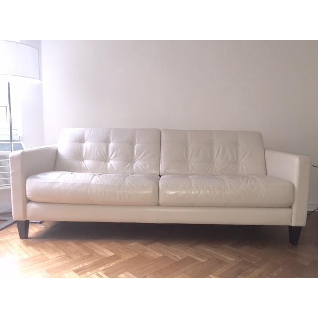 Macy's Milan Leather Sofa - Image 2 of 3
