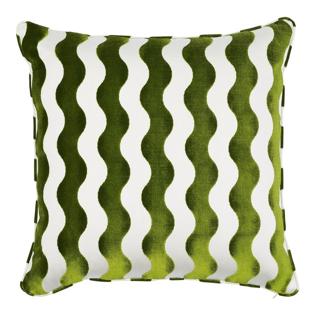 Schumacher X Miles Redd the Wave Lettuce Pillow For Sale