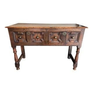 Early 19th Century Welsh Oak Dresser Base For Sale