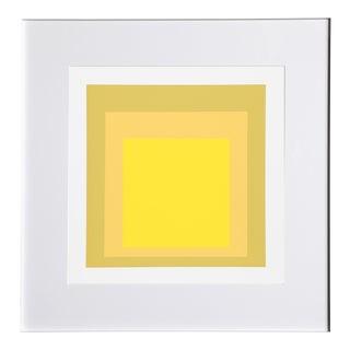 Josef Albers - Portfolio 2, Folder 24, Image 2 Framed Silkscreen For Sale