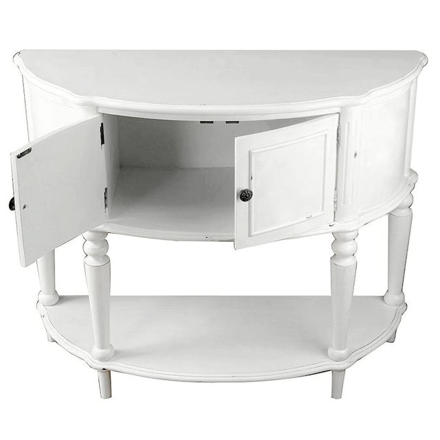 White Cabinet Console Table - Image 2 of 2