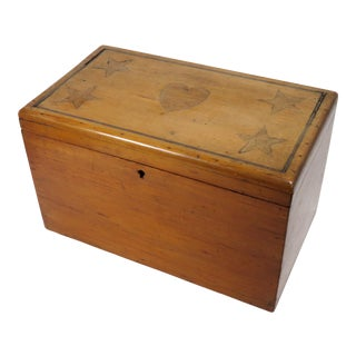 Antique Sailor Made Folk Art Sweetheart Box For Sale