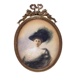 19th Century Portrait Miniature of an Elegant French Woman For Sale