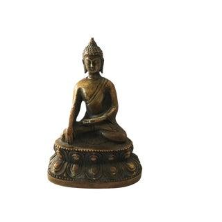 Old Bronze Earth Touching Buddha