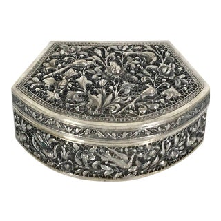 Chinese Export Sterling Pierced Table Box