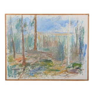 Abstract Forest Landscape by Orgard, 1965 For Sale