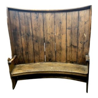 19th Century Vintage Tall Settle Bench For Sale