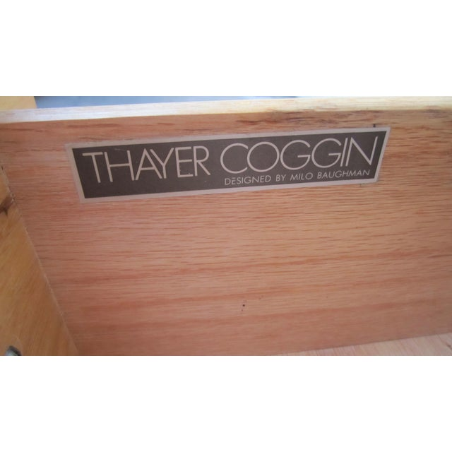 Metal 1970s Milo Baughman Thayer Coggin Maple Double Modular Dresser For Sale - Image 7 of 13