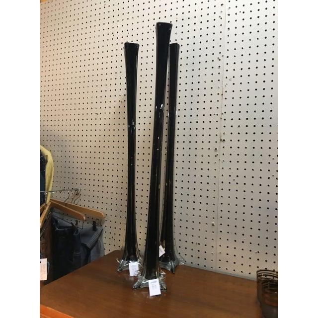 Modern Black Vases - Set of 3 - Image 2 of 5
