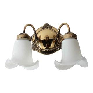 2 Light Brass Wall Sconce