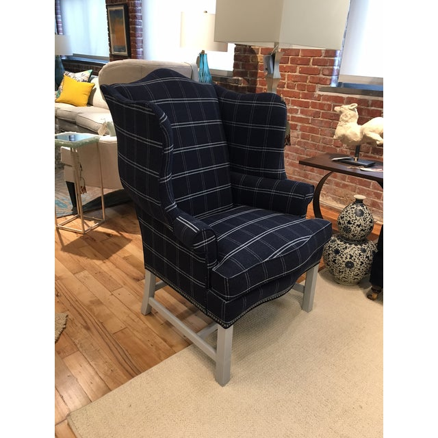 Hickory Chair Townsend Wing Chair Showroom Sample - Image 5 of 5