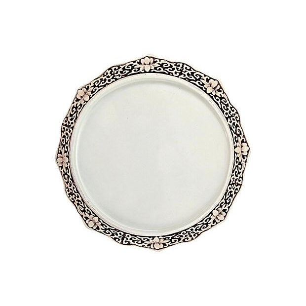 Antique Chinese Hand-Carved White Cinnabar Plate - Image 4 of 4