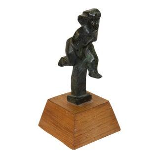 """1943 Bronze Sculpture """"Runner"""" by Chaim Gross For Sale"""