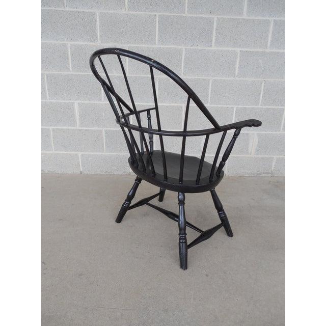 Antique Hoop Back Windsor Armchair For Sale - Image 4 of 10