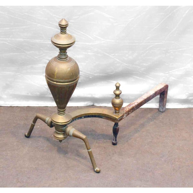 Brass & Iron Andirons - A Pair - Image 4 of 7