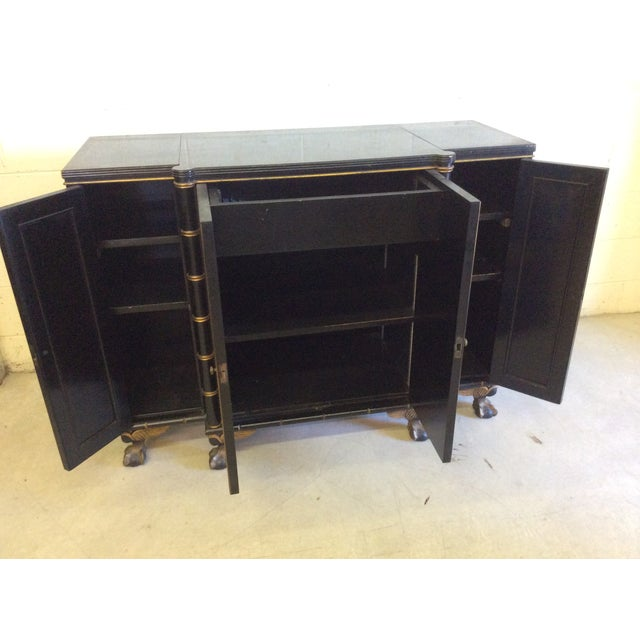 Vintage Chinoiserie-Style Flip Top Bar or Buffet - Image 3 of 9