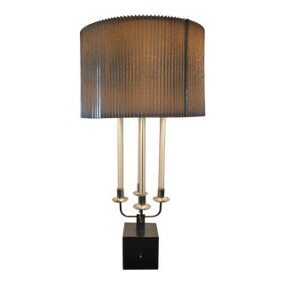 Vintage Lucite and Aluminium Table Lamp For Sale
