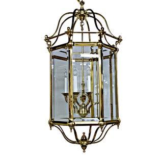 Brass & Glass Eight-Light Octagonal Lantern For Sale