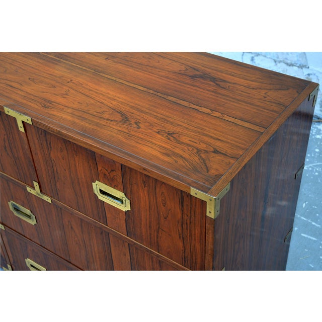 Pair of Walnut Baker Chests of Drawers For Sale In Los Angeles - Image 6 of 13