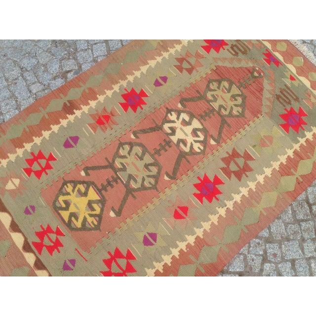 """Islamic Vintage Anatolian Oyshak Rug -- 3' x 4'11"""" For Sale - Image 3 of 6"""