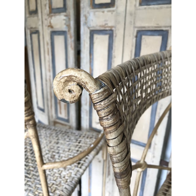 Neoclassical Styled Metal Bar Stools, Pair For Sale - Image 9 of 13