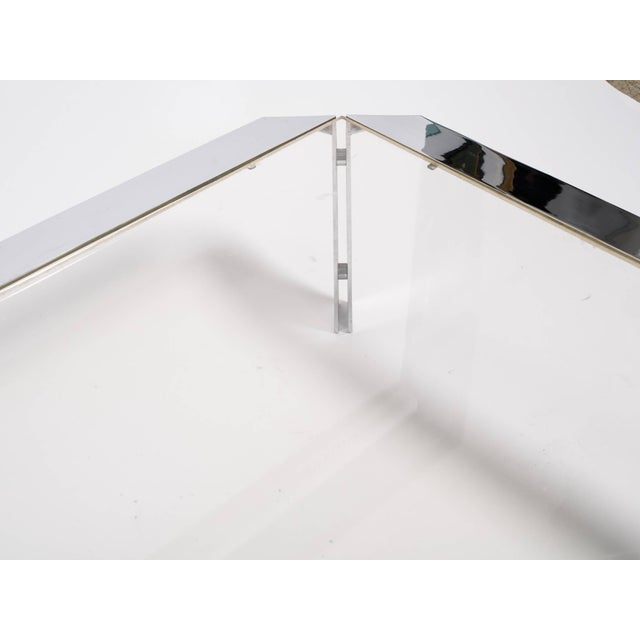 Metal Design Institute of America Chrome Coffee Table For Sale - Image 7 of 8