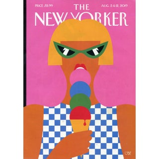 Original 2019 New Yorker Cover, August 5 (Olimpia Zagnoli), Ice Cream For Sale